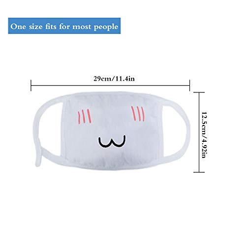 BKpearl 20 Pack Anime Mouth Mask, Kawaii Cartoon Funny Anti-Dust Face Mask Face Emoticon Masks for Kids Teens Men Women