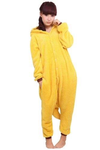 Pokemon Pikachu Kigurumi Pajamas Adult Anime Cosplay Halloween Costume size L
