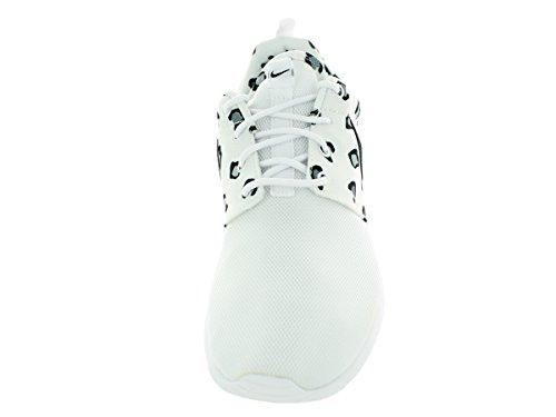 Nike Wmns Rosherun Afdrukken 599.432 Vrouwen Loopschoenen Wit (wit / Zwart)