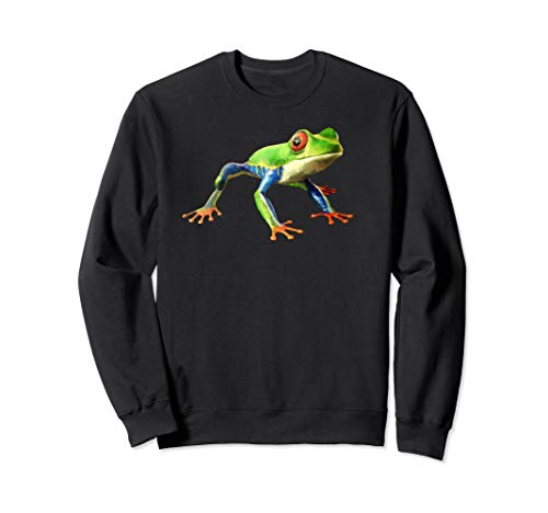 Tree Frog Sweatshirt - Red Eyed Tree Frog Shirt Cute Frog Tee I Love Tree Frogs