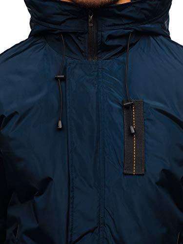Bomber Transitional 4D4 Mix BOLF Ribbed Men's Casual Jacket rz03 Zip Sport Navy ngqHw