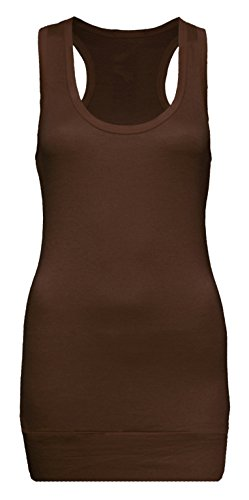 Camiseta tipo tank de mujer de tirantes compra 4y consigue 5–Camiseta–Top tank marrón