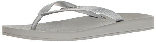 Ipanema Women's Ana Tan Flip Flop, Grey/Silver, 9 M US