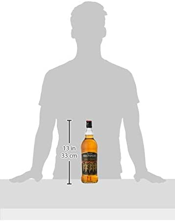 Whisky Blended Scotch 100 Pipers - 1 botella de 1L