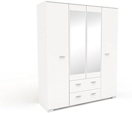 tousmesmeubles armoire dressing blanche