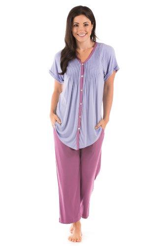 Texere Women's Pajama Set Sleepwear (Sweet Paradise, Bordeaux, Medium) Best Pyjamas for Her WB0002-BDX-M