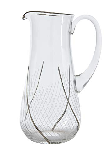 Glazze Crystal RMC-161-PL Romance Luxury Water Pitcher with Real 24K Platinum Detailing   Custom Hand Cut Designs   100% Lead-Free Glass   Ideal Wedding & Housewarming Gift 10