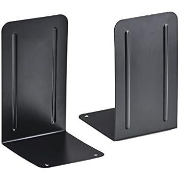 Acrimet Premium Bookends (Black)  (1 Pair Pack)