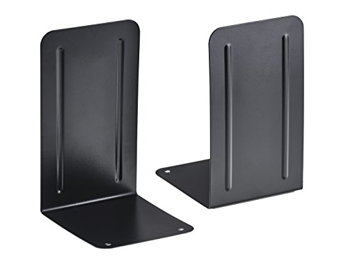 Acrimet Bookends Black (1 Pair Pack) (Black Bookend)