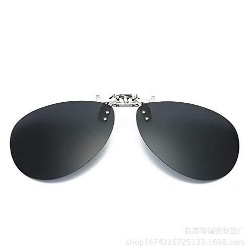 miopía la Sol B KOMNY Clip de Colorido de clásico de Aluminio la Conduce el magnesio Espejo del 3 el Gafas El de del Que de Moda Rana B la acorta Conductor A polarizador Las 8x8wzS4q