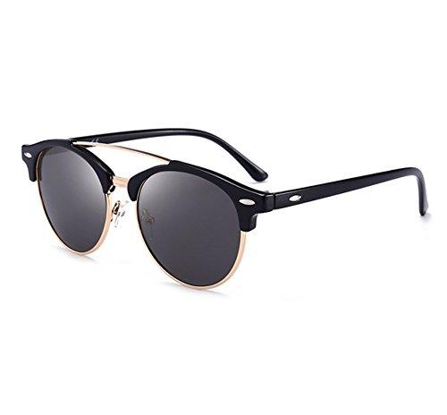 la lunettes demi classique Noir Hellomiko de par lunettes polarisées aviateur trame conduite classique Gris voyage ébOcOLI6ssQLsent soleil de wPqxOS