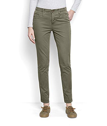 Orvis Women's Everyday Girlfriend Ankle Chinos, Olive, 10