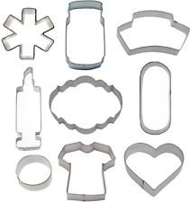 9 Piece Nurse Nursing Cookie Cutter Set Medical Doctor Get Well by cookiecuttershop
