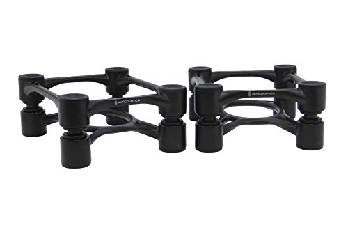 IsoAcoustics Aperta Isolation Stands - Black (pair) by IsoAcoustics