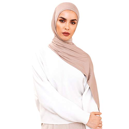 Voile Chic 5 Colors Presewn Instant Premium Jersey Head Scarf Wrap - Vanilla from Voile Chic