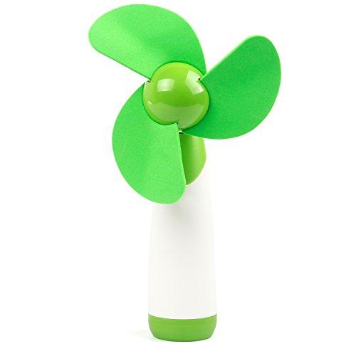 TRIXES Handheld Soft Blade Fan Green Adjustable Head