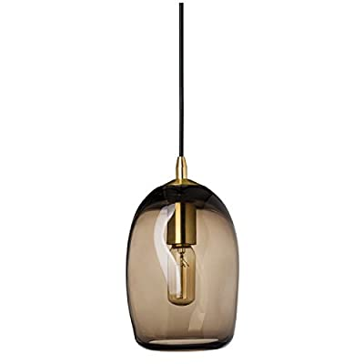 Casamotion Mini Pendant Lighting Handblown Glass Drop ceiling lights, Organic Contemporary Style Hanging Light