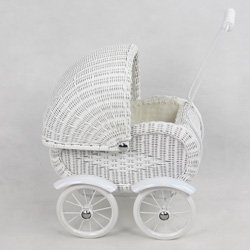 Regal Doll Carriages German Doll Carriage White Wicker Furniture by Regal Doll Carriages