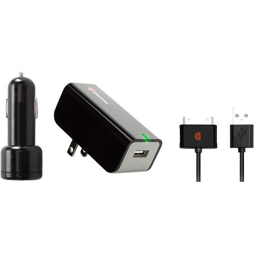 Griffin PowerDuo NA23093 Auto/AC Adapter - 12 V DC, 110 V AC, 220 V AC Input Voltage - 2.10 A Output Current