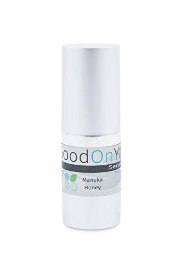 Antioxidant Serum, Anti Aging Face Serum, Instant Visible Results by GoodOnYa. Nano Aloe Vera, Vitamins A, C & E and Manuka Honey. Natural and Organic (.5 oz)