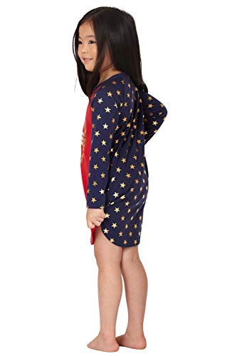 1b58c1eea4 Intimo Wonder Woman Costume Girls  Gold Logo Raglan Nightgown Pajama Sleep  Shirt