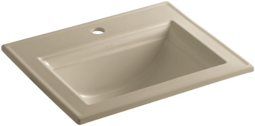 KOHLER K-2337-1-33 Memoirs Self-Rimming Bathroom Sink with Stately Design, Mexican Sand