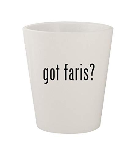 - got faris? - Ceramic White 1.5oz Shot Glass