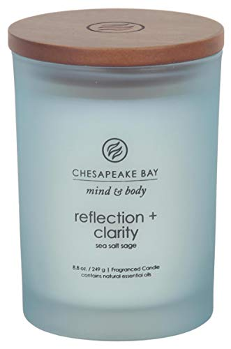 Chesapeake Bay Candle Scented Candle, Reflection + Clarity (Sea Salt Sage) Medium