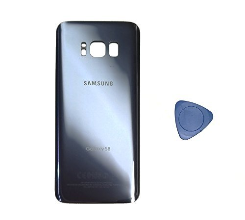 (md0410) Galaxy S8 OEM Orchid Gray Rear Back Glass Lens Grey Battery Door Housing Cover + Adhesive Replacement For G950 G950F G950A G950V G950P G950T with adhesive and opening tool