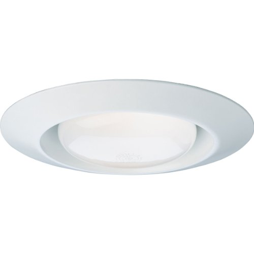 - Progress Lighting P8074-28 Open Splay Trim UL/CUL Listed for Damp Locations 8-3/4-Inch O D, White