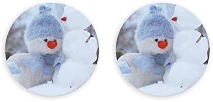 Lindo muñeco de nieve redondo abrebotellas / imanes de nevera sacacorchos de acero inoxidable pegatina magnética 2 piezas
