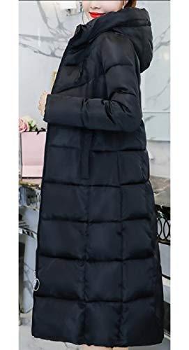 Black Jacket Coat EKU Long Women's Outerwear Winter Cotton xTwxH0qa7F