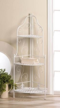 Smart Living Company 10017510 White Basket Weave Corner Rack by Smart Living