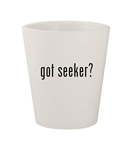 got seeker? - Ceramic White 1.5oz Shot Glass -