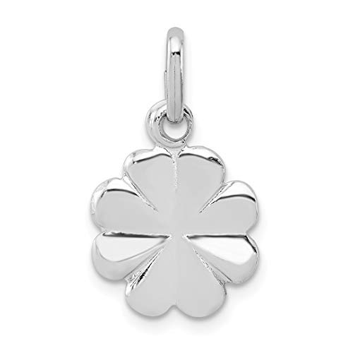 925 Sterling Silver Clover Pendant Charm Necklace Good Luck Italian Horn Fine Jewelry For Women Gift Set