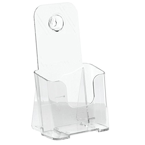 Marketing Holders Countertop Literature Holder, Clear, 4 1/8W x 1 3/4D x 7 3/4H
