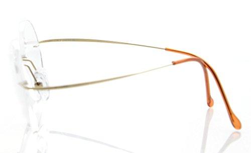 hombres dorado de Gafas para sin tiranio marco lectura Eyekepper Ancho 45mm de Lente 0 borde sol de 75 de PURdf5wq