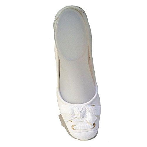Ge22 Elen☼ Suredelle Blanc Ballerines Ref YqR78x4Ow