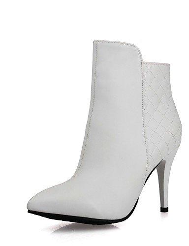 negro Uk3 Cn35 Eu36 Uk7 Casual Mujer Stiletto Zapatos us5 Xzz us9 5 White White Oficina Vestido De Anfibias Cn4 Tacón 5 Y Cn41 Trabajo Botas Eu40 Semicuero Puntiagudos pS4w6cqwW
