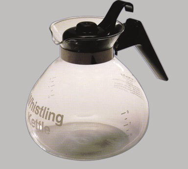 One-All Stovetop Whistling Kettle 12 Cup Glass - Medelco 12 Cup Glass