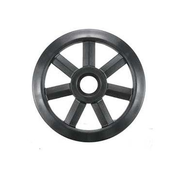 WPS Composite Wheel - 8in. Seven Spoke with 25mm Bearing BLACK 8 25MM