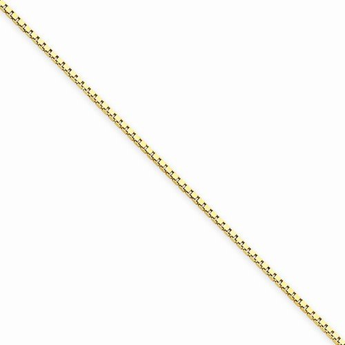 Solid 14k Yellow Gold 1.0mm Box Extra Long Chain Necklace - with Secure Lobster Lock Clasp (Yellow Gold Solid Long Box)