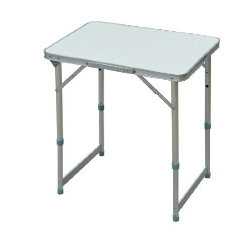 Outsunny Aluminum Camping Folding Camp Table with Carrying Handle, 23.5-Inch x 17.5-Inch by Outsunny
