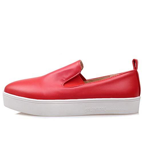 Plat 3 rouge Zanpa Femmes Sneaker Mode FIOq6