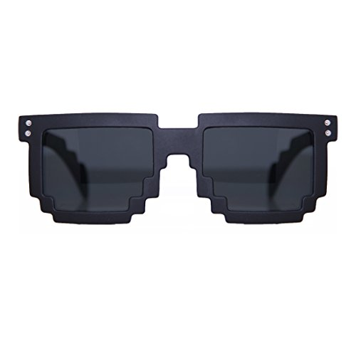 MJ Boutique's 8-bit Matte Black Pixelated Sunglasses FREE - Sunglasses Bit 8