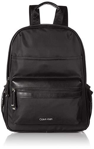 Calvin Klein Callen Nylon Organizational Front Pocket Backpack, Black