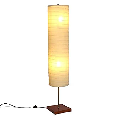 Brightech Serenity - Boho Floor Lamp for Living Rooms & Bedrooms – Soft Light for TV Watching or Bedside, Matches Mid Century Modern, Vintage, Asian Decor – Havana Brown - GORGEOUS MODERN BOHO LAMP THAT LOOKS GREAT WITH ANY DÉCOR: The Serenity LED Floor Lamp looks beautiful amid contemporary bohemian (boho), mid century modern, farmhouse or asian décor. It has an extended open top and a neutral linen cylinder shade that hovers over a symmetric square base (9 x 9 inches) of solid Havana Brown wood. The unique modern style and size of this lamp makes it the perfect corner, bedside, office, or living room lamp. BEAUTIFUL WARM LIGHT FOR HOME OR OFFICE: The Serenity Lamp lives up to its name! It gives off warm, serene light that will create a cozy and comfortable space for any room in your home or office. This lamp is the perfect couch or bedside lamp that gives off soft beautiful lighting to enlighten your bedroom, living room, den, nursery, meditation room, or office. This lamp does not have the glare of overhead lights or exposed bulbs as its neutral linen shade softens the light giving your room a wa LONG LASTING & ENERGY SAVING INDOOR LAMP: Included in the Tranquility's package are two 5 Watt power saving LED light so that you will never have to replace a bulb. The advanced 2,700K warm white LED technology with 550 lumens for each bulb allows this lamp to outshine lamps that depend on short lived, energy consuming standard halogen or incandescent bulbs. This LED lighting will endure for more than 20 years without burning out or overheating. - living-room-decor, living-room, floor-lamps - 31kAt1sV0IL. SS400  -