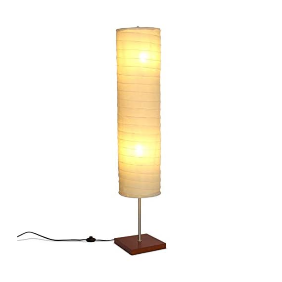Brightech - Serenity LED Floor Lamp for Living Rooms & Bedrooms – Mid Century Modern Minimalist, Ambient Light – Perfect… - GORGEOUS MODERN LAMP THAT LOOKS GREAT WITH ANY DÉCOR: The Serenity LED Floor Lamp looks beautiful amid contemporary, mid century modern, or industrial décor. It has an extended open top and a neutral linen cylinder shade that hovers over a symmetric square base (9 x 9 inches) of solid Havana Brown wood. The unique modern style and size of this lamp makes it the perfect corner, bedside, office, or living room lamp. BEAUTIFUL WARM LIGHT FOR HOME OR OFFICE: The Serenity Lamp lives up to its name! It gives off warm, serene light that will create a cozy and comfortable space for any room in your home or office. This lamp is the perfect couch or bedside lamp that gives off soft beautiful lighting to enlighten your bedroom, living room, den, nursery, meditation room, or office. This lamp does not have the glare of overhead lights or exposed bulbs as its neutral linen shade softens the light giving your room a wa LONG LASTING & ENERGY SAVING INDOOR LAMP: Included in the Tranquility's package are two 5 Watt power saving LED light so that you will never have to replace a bulb. The advanced 2,700K warm white LED technology with 550 lumens for each bulb allows this lamp to outshine lamps that depend on short lived, energy consuming standard halogen or incandescent bulbs. This LED lighting will endure for more than 20 years without burning out or overheating. - living-room-decor, living-room, floor-lamps - 31kAt1sV0IL. SS570  -