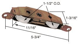 - CRL Sliding Glass Door Roller with 1-1/2