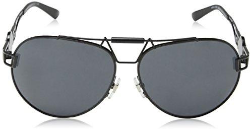 Versace Unisex Sonnenbrille VE2160 100987, Schwarz (Black 100987), One size (Herstellergröße: 63)